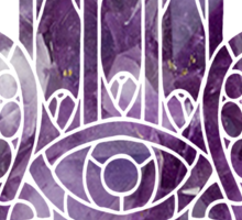 Purple Crystal Hamsa Sticker