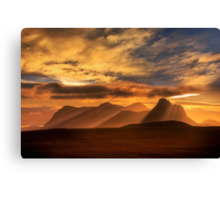 Sunrise over Stac Pollaidh, Inverpolly, North West Scotland. Canvas Print