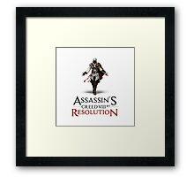 ASSASSIN'S CREED VIII BIT : RESOLUTION Framed Print