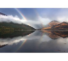 Mountains,mist and rainbows. Loch Duich. North West Highlands. Scotland. Photographic Print