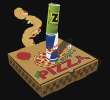 Retro Gaming Session -Pizza joystick- Kids Clothes