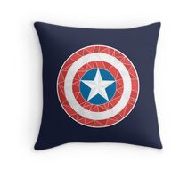 Captain America - Stylised Shield Throw Pillow