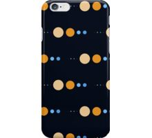 Planets to scale pattern iPhone Case/Skin