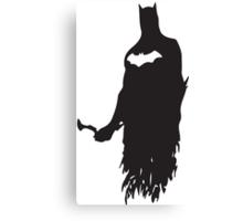 Superhero Silhouette Print Canvas Print