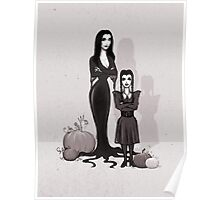 Morticia and Wednesday Poster