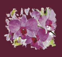 Pink Phalaenopsis - watercolour T-Shirt