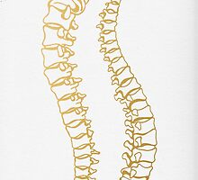 Gold Vertebrae by Cat Coquillette
