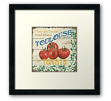 French Veggie Labels 3 Framed Print