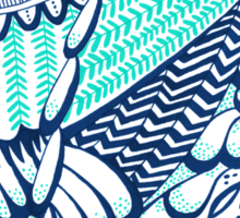Owls – Turquoise & Navy Sticker