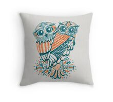 Owls – Teal & Orange Throw Pillow