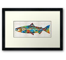Fish Art Print - Colorful Salmon - By Sharon Cummings Framed Print