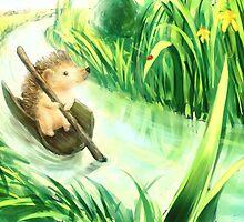 Hedgehog on a journey by Petra van Berkum