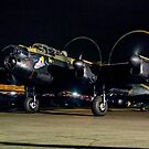 Lancaster NX611 night taxy run 2014 by Colin Smedley