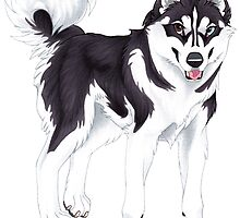 Black Siberian Husky (no text) by Mayra Boyle