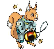 squirrel in a spacesuit by Koalka