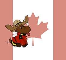 Mountie Moose (Flag Version) by mistina