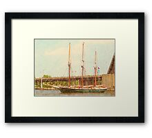 S/V Denis Sullivan - Heading Up the Saginaw River Framed Print