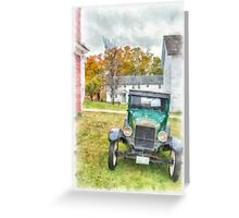 Ford Model A Sedan Greeting Card