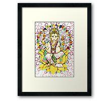 Ganesha Hindu elephant God - remover of obstacles Framed Print
