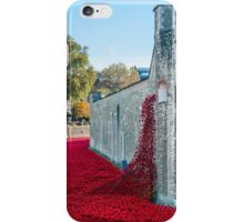 Cascading Poppies, Tower of London iPhone Case/Skin