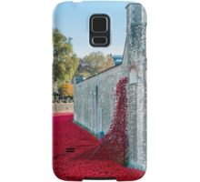 Cascading Poppies, Tower of London Samsung Galaxy Case/Skin