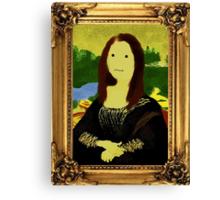 Mona Lisa in Golden Frame Canvas Print