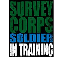 Survey Corps Soldier in Training Photographic Print