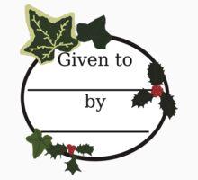 Christmas Gift Bookplate by masqueblanc