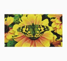 Painted Lady Butterfly on Yellow Flower Kids Clothes