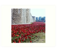 Sea of poppies -Tower of London Art Print