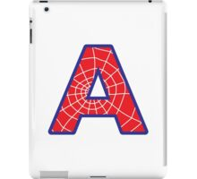 A letter in Spider-Man style iPad Case/Skin