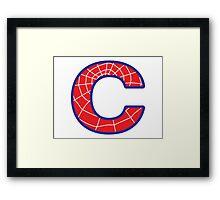 C letter in Spider-Man style Framed Print