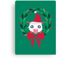 Christmas Poro Wreath Canvas Print
