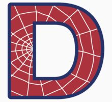 D letter in Spider-Man style by Stock Image Folio