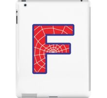 F letter in Spider-Man style iPad Case/Skin