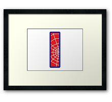 I letter in Spider-Man style Framed Print