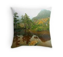 Autumn at The Artists Pool Throw Pillow