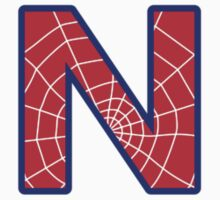 N letter in Spider-Man style by Stock Image Folio