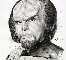 Worf Portrait Star Trek Fan Art by OlechkaDesign