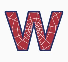 W letter in Spider-Man style Kids Clothes