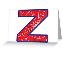 Z letter in Spider-Man style Greeting Card