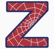 Z letter in Spider-Man style Kids Clothes