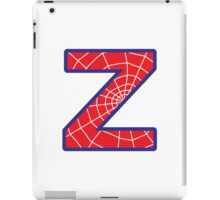 Z letter in Spider-Man style iPad Case/Skin