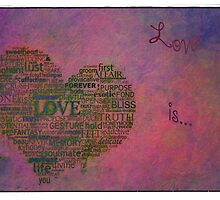Love is poster with white frame by Eti Reid