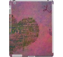 Love is poster with white frame iPad Case/Skin