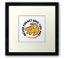 Never Forget Who You Are Framed Print