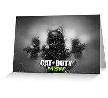 Cat of Duty 2 Greeting Card