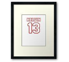 NFL Player Kelvin Benjamin thirteen 13 Framed Print
