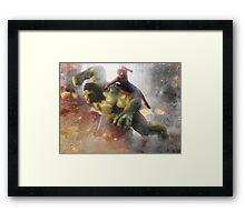 Marvel Team-Up: Hulk & Spider Man Framed Print