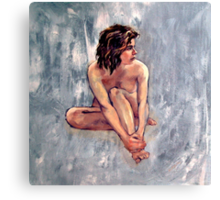 'Lucy' ~ Female nude, oil painting on canvas  Canvas Print